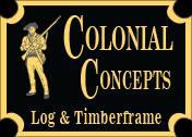 Colonial Log & Timberframe Logo