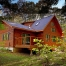 Log home in forest