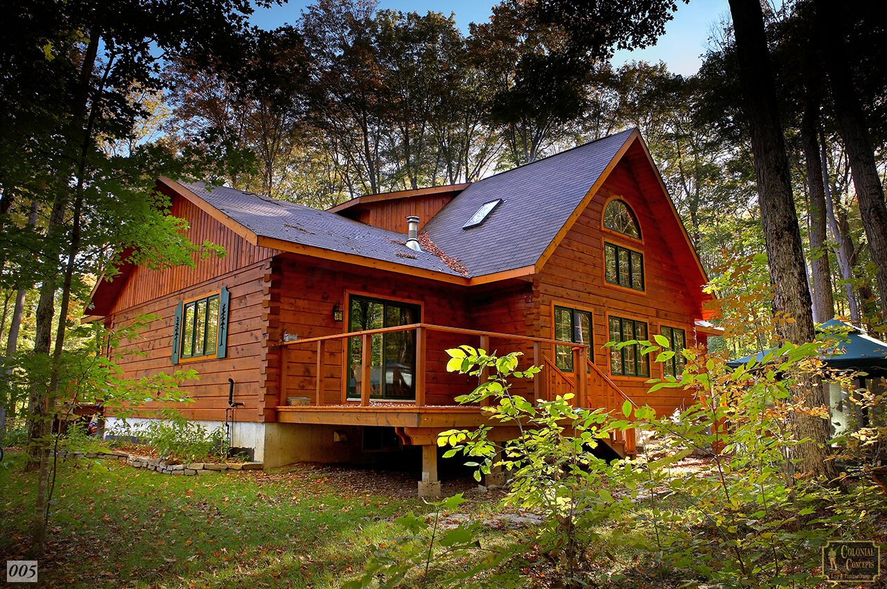 Log home lakeview model colonial concepts log for Colonial log homes