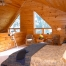 Log home bedroom loft