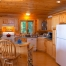 Log home kitchen, wood