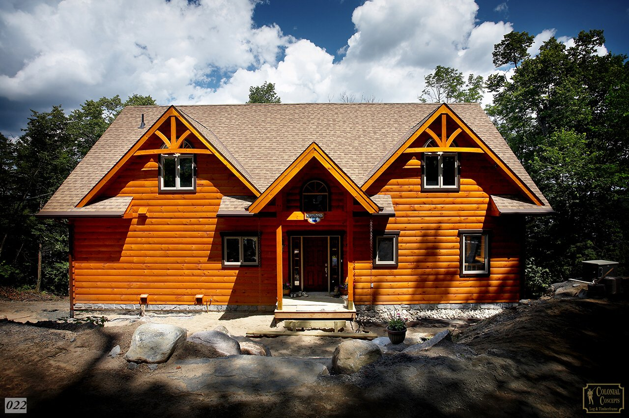 log home from road