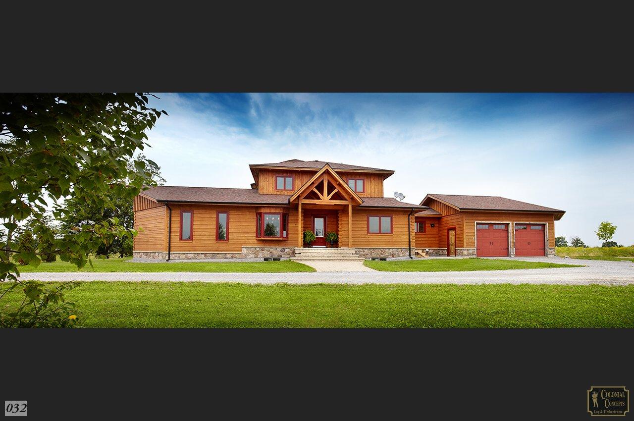 Log home, custom model panorama