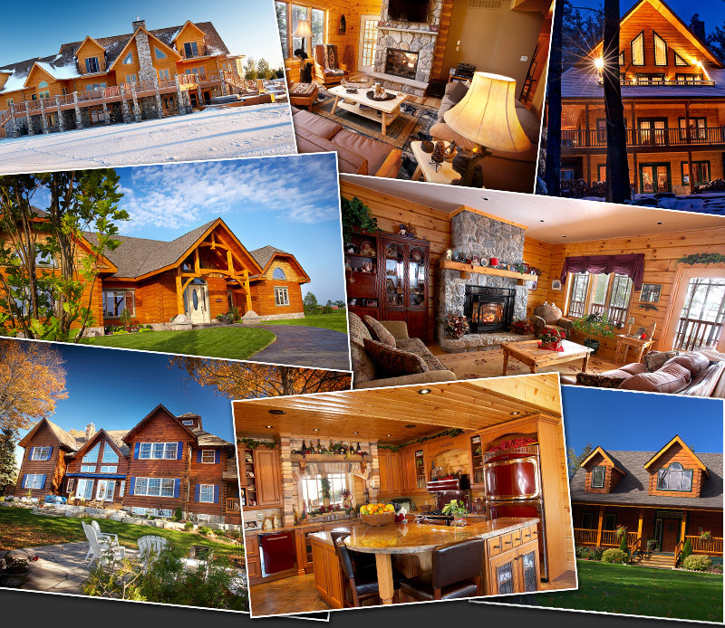 log home photo gallery