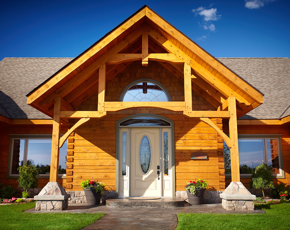 Sycamore Timberframe Entry