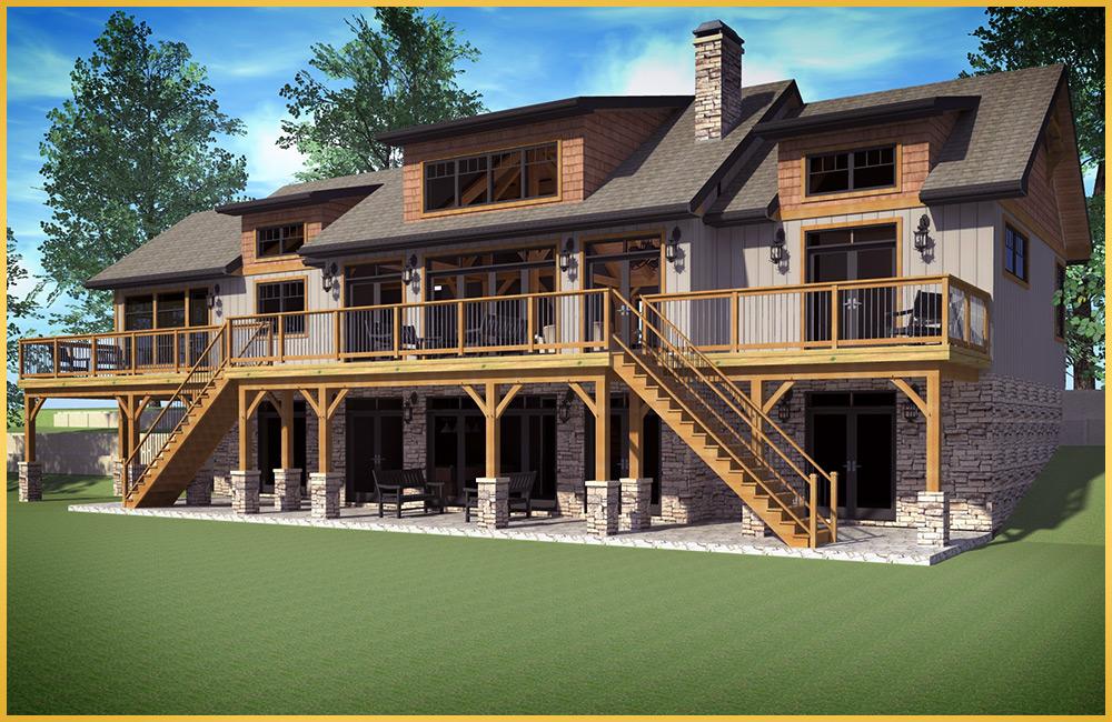 Log Home Models Baysville Colonial Concepts Log