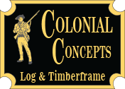 Colonial Log & Timberframe Logo
