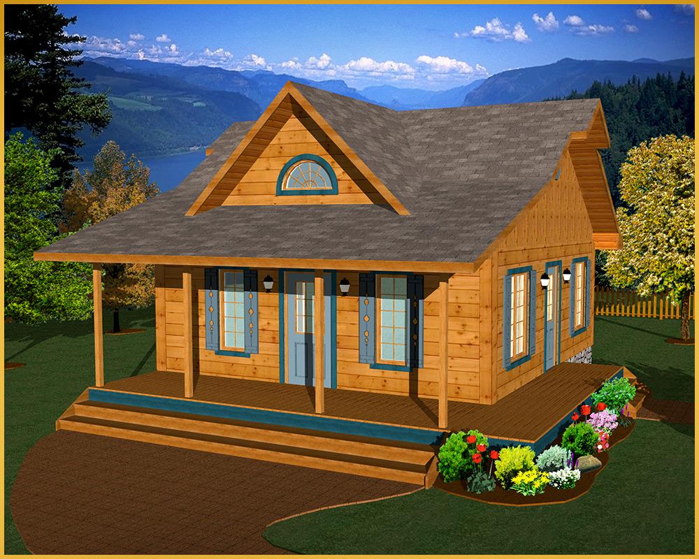 log cabin 3d rendering cabin model II