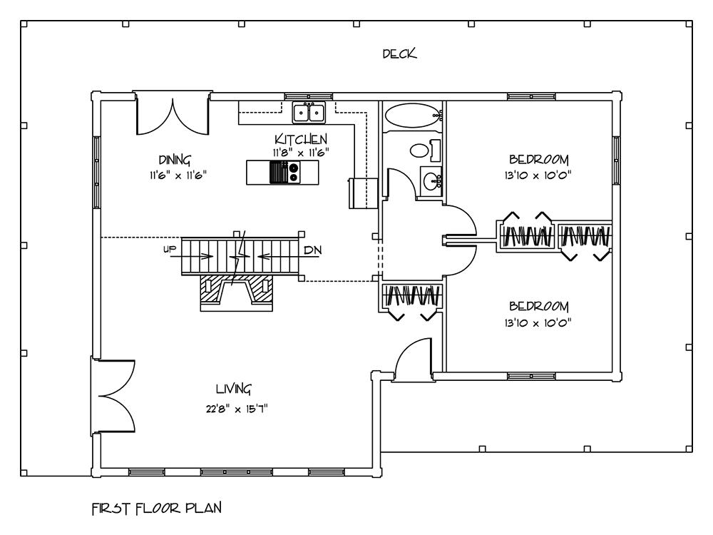 log home plan applewood first floor