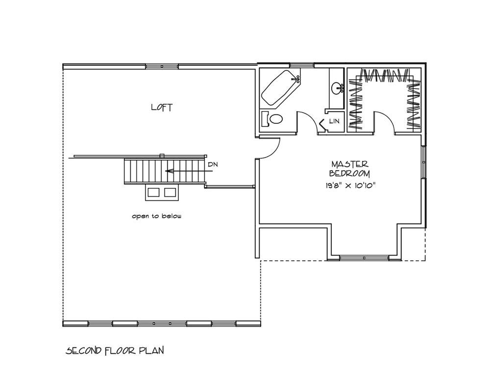 log home plan applewood second floor