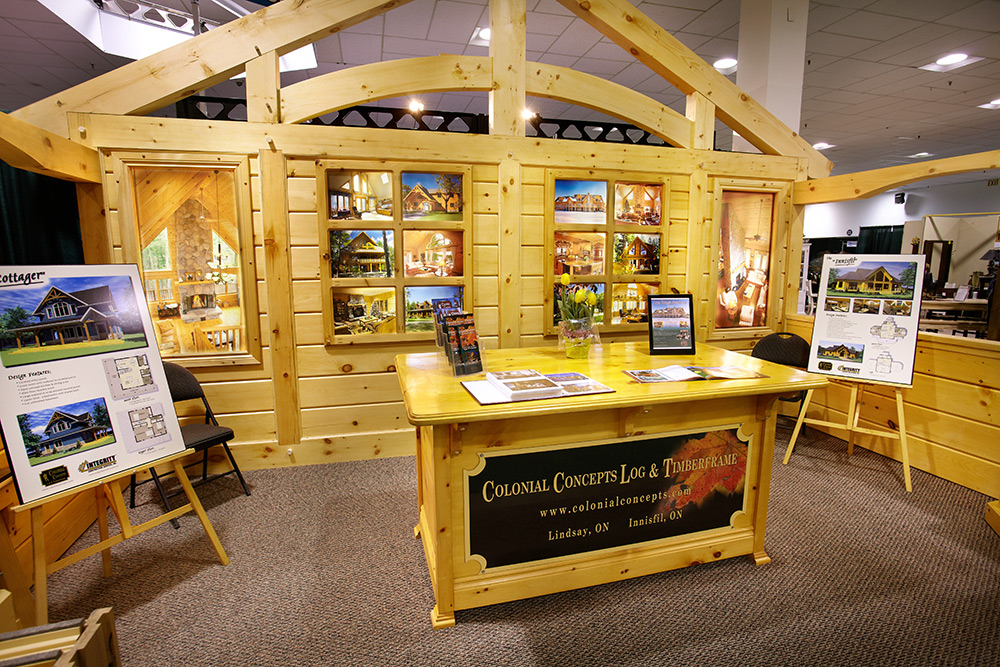 log home trade show booth
