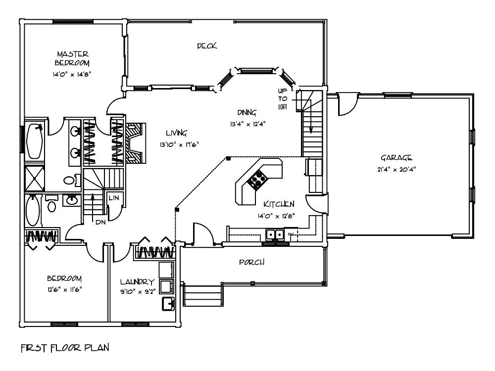 Heritage Log Cabin First Floor Plan