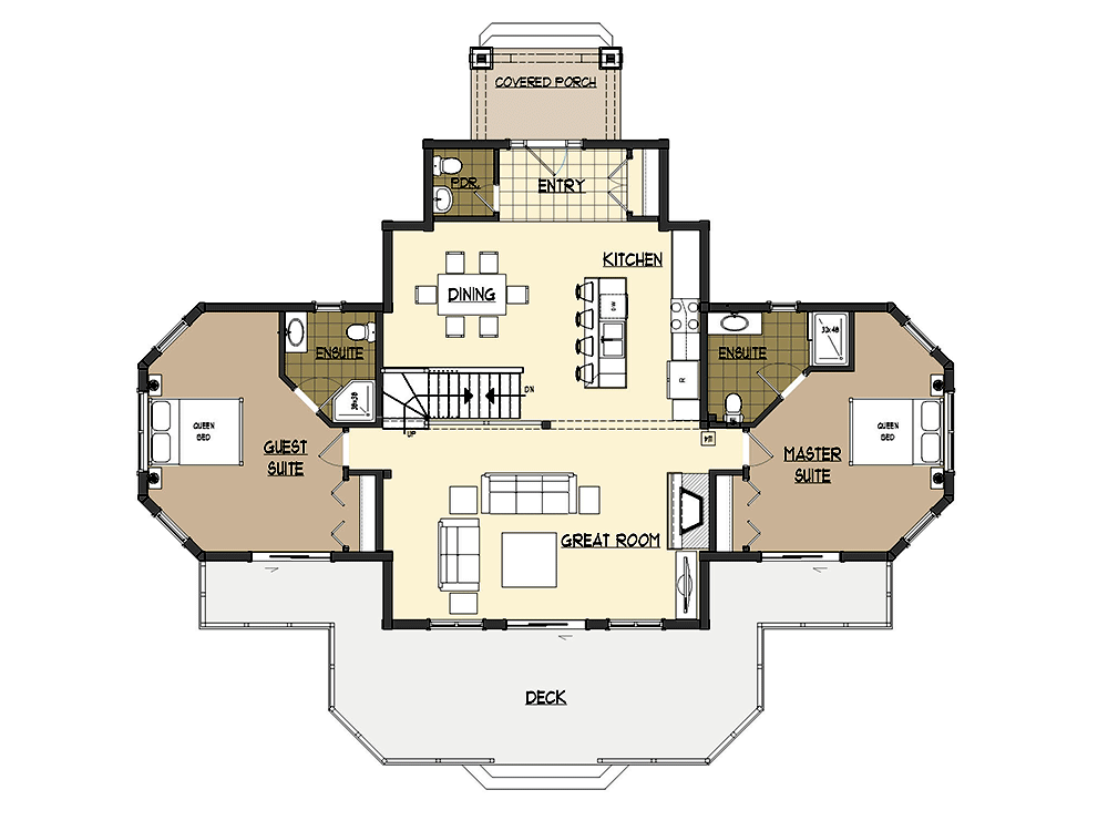 Innisfill Log Home First Floor Plan