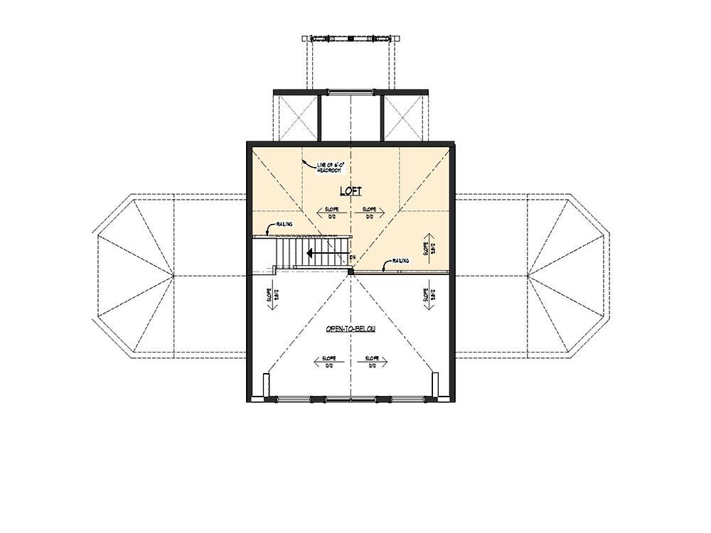 Innisfill Log Home Second Floor Plan