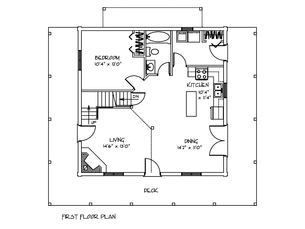 Juniper Log Cabin First Floor Plan