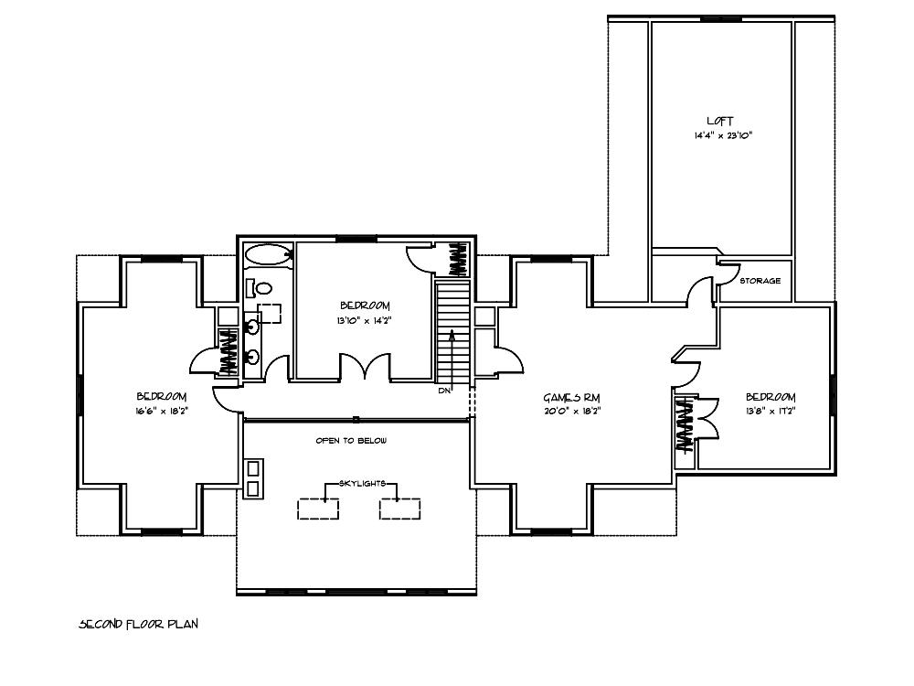 Magnolia Log Cabin 2nd Floor Plan