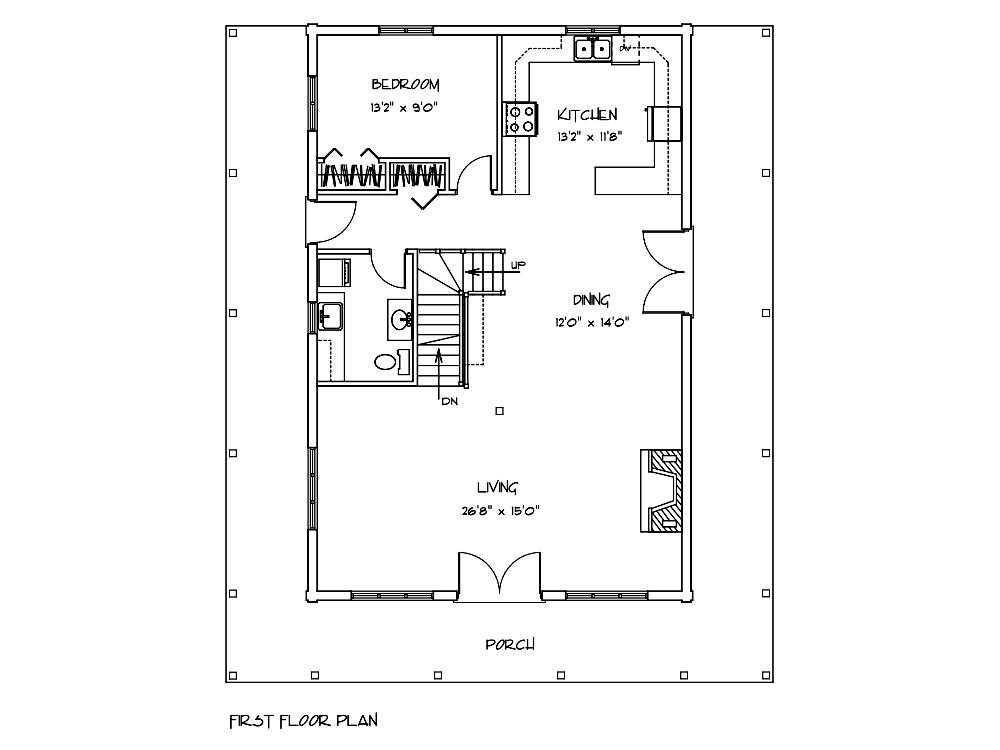 Mimosa Log House First Floor Plan