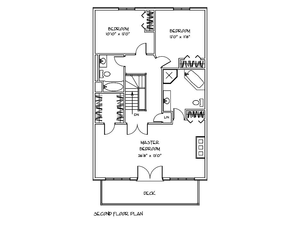Mohawk Log Home Second Floor Plan