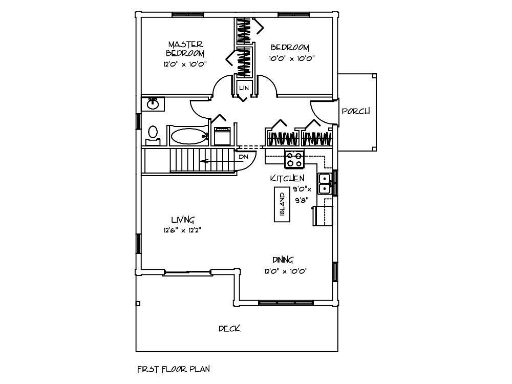 Mohawk Cahin First Floor Plan