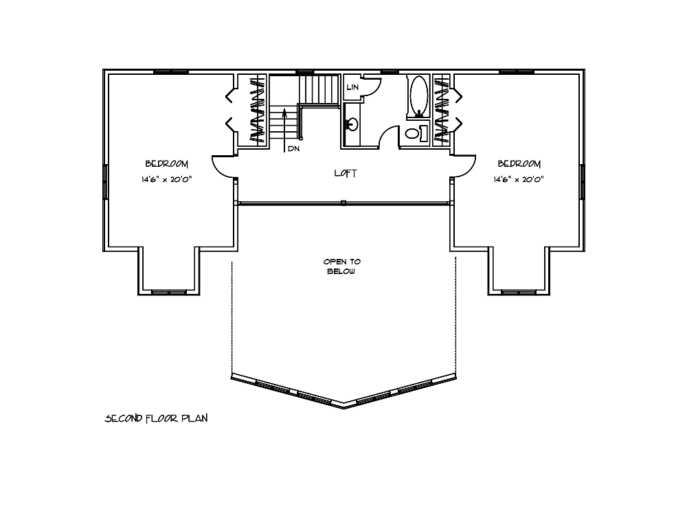 Mulberry Log House Second Floor Plan