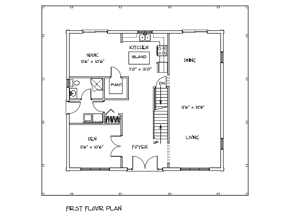 Niagara Log Cabin 1st Floor Plan