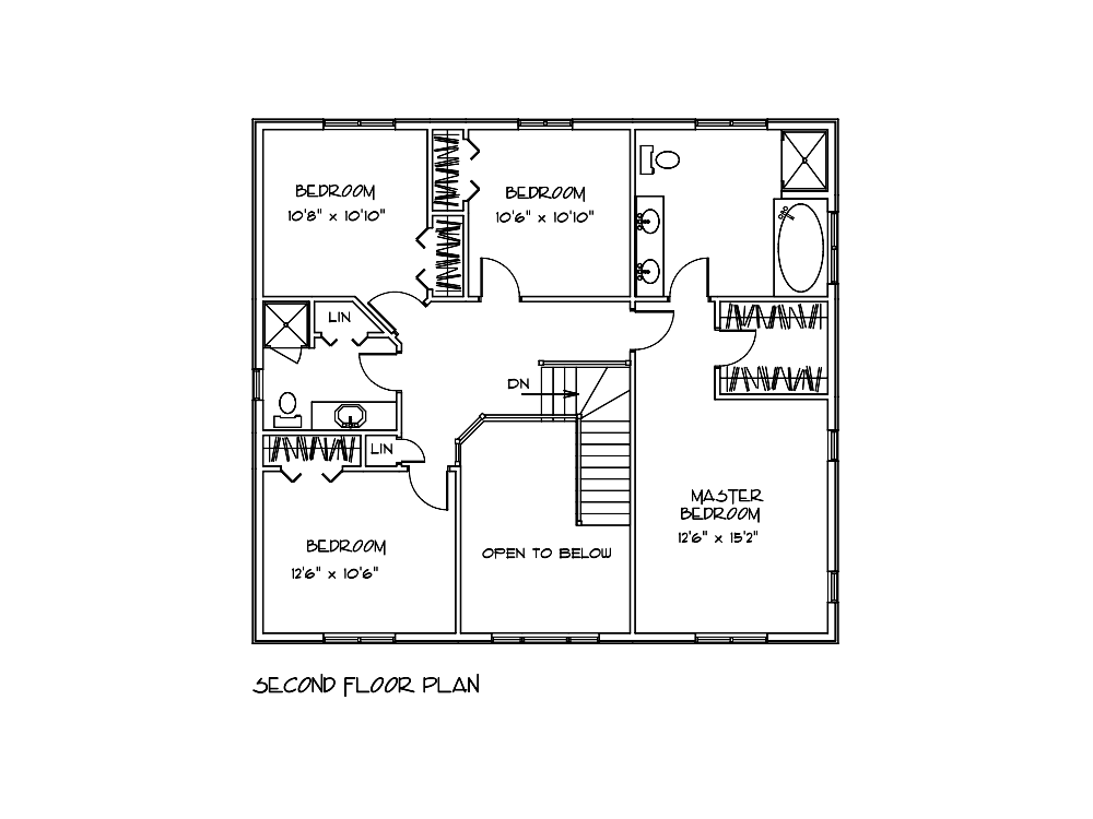 Niagara Log Home Second Floor Plan