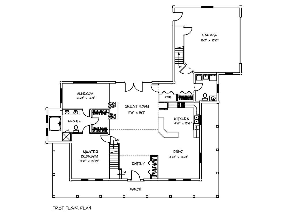 Petersburg Log Home Floor Plan