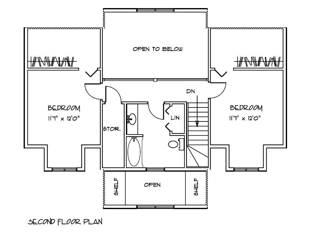 Redwood Cabin Floor Plan