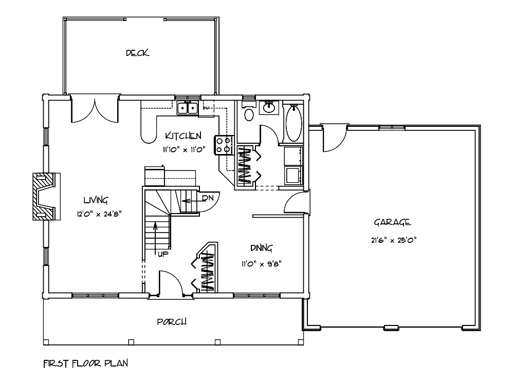 Riverwood Log Cabin Floor Plan