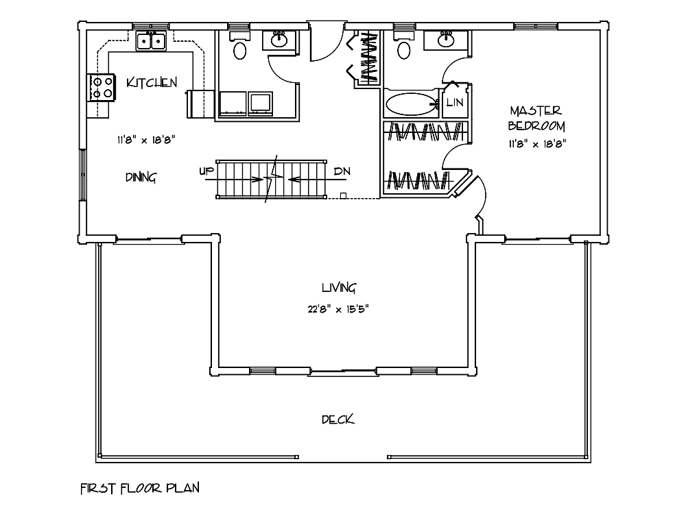 Wellington Log Home Floor Plan