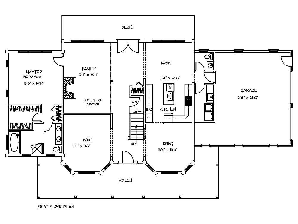 Williamsburg Cabin Floor Plan
