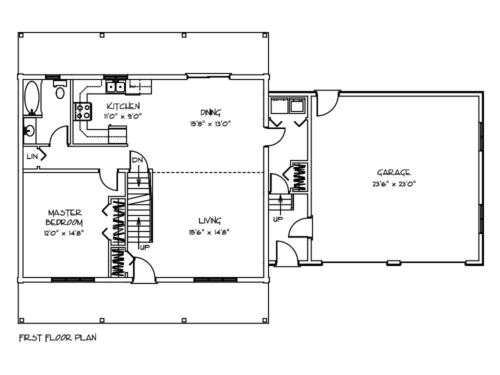 Woodland Cabin Floor Plan