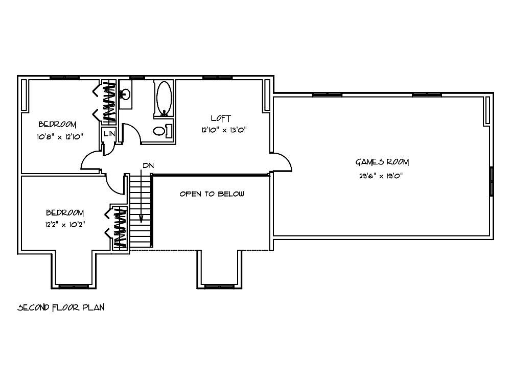 Woodland Log Home Floor Plan